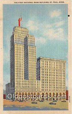 bnk001353 - First National Bank Building St Paul, Minn, USA Postcard Post Card