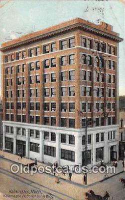 bnk001373 - Kalamazoo National Bank Building Kalamazoo, Mich, USA Postcard Post Card