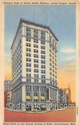 bnk001379 - National Bank of Grand Rapids Building Grand Rapids, Mich, USA Postcard Post Card