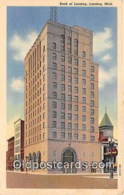 bnk001386 - Bank of Lansing Lansing, Mich, USA Postcard Post Card