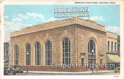 bnk001388 - American State Bank Saginaw, Mich, USA Postcard Post Card