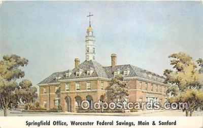 bnk001390 - Springfield Office, Worcester Federal Savings Springfield, Massachusetts, USA Postcard Post Card