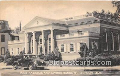 bnk001394 - First National & Savings Banks Winchendon, Mass, USA Postcard Post Card