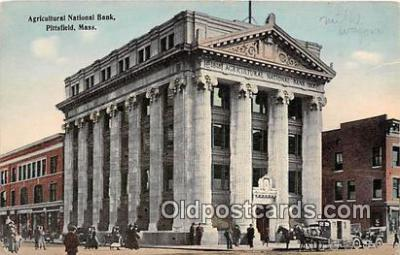 bnk001398 - Agricultural National Bank Pittsfield, Mass, USA Postcard Post Card