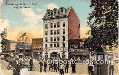 bnk001413 - George D Harter Bank Canton, Ohio, USA Postcard Post Card