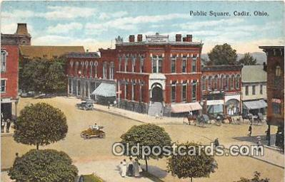 bnk001414 - Public Square Cadiz, Ohio, USA Postcard Post Card