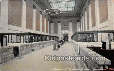 bnk001416 - Interior, First National Bank Youngstown, Ohio, USA Postcard Post Card