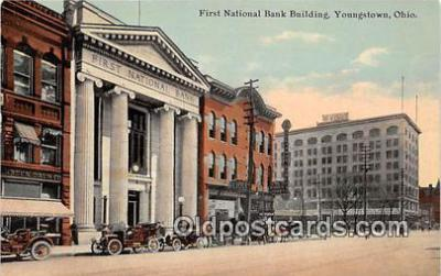 bnk001417 - First National Bank Building Youngstown, Ohio, USA Postcard Post Card