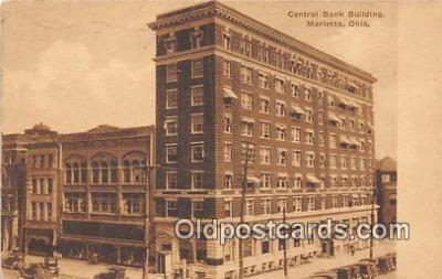 bnk001420 - Central Bank Building Marietta, Ohio, USA Postcard Post Card