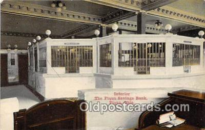bnk001423 - Interior, Piqua Savings Bank Piqua, Ohio, USA Postcard Post Card
