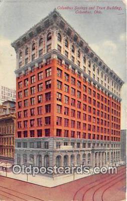 bnk001425 - Columbus Savings & Trust Building Columbus, Ohio, USA Postcard Post Card