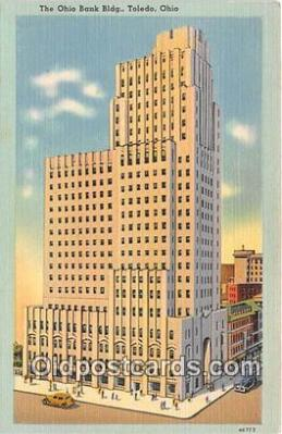 bnk001434 - Ohio Bank Building Toledo, Ohio, USA Postcard Post Card