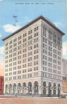 bnk001436 - National Bank of Lima Lima, Ohio, USA Postcard Post Card