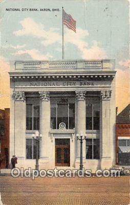 bnk001438 - National City Bank Akron, Ohio, USA Postcard Post Card