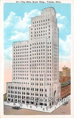 bnk001445 - Ohio Bank Building Toledo, Ohio, USA Postcard Post Card