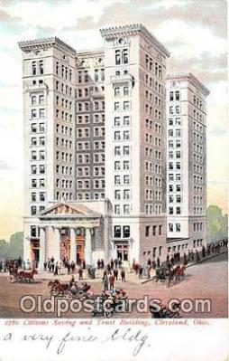 bnk001446 - Citizens Saving & Trust Building Cleveland, Ohio, USA Postcard Post Card