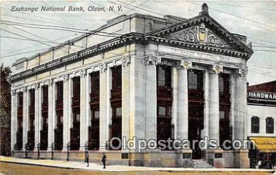 bnk001450 - Exchange National Bank Olean, NY, USA Postcard Post Card