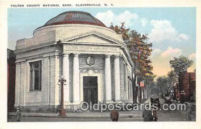 bnk001451 - Fulton County National Bank Gloversville, NY, USA Postcard Post Card