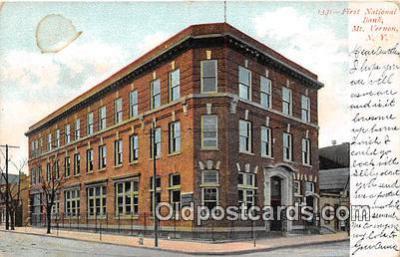 bnk001459 - First National Bank Mt Vernon, NY, USA Postcard Post Card