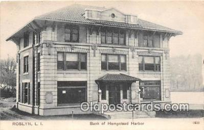 bnk001464 - Bank of Hempstead Harbor Roslyn, LI, USA Postcard Post Card