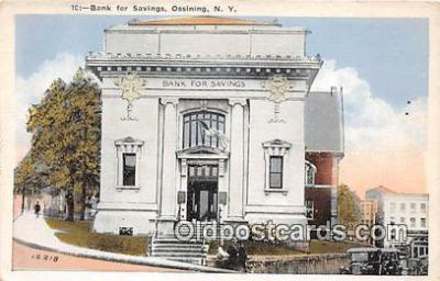 bnk001465 - Bank for Savings Ossining, NY, USA Postcard Post Card