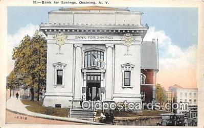 bnk001468 - Bank for Savings Ossining, NY, USA Postcard Post Card