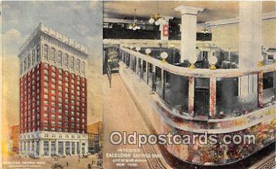 bnk001473 - Interior, Excelsior Savings Bank New York, USA Postcard Post Card