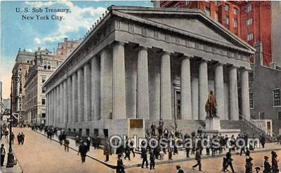 bnk001475 - US Sub Treasury New York City, NY, USA Postcard Post Card