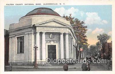 bnk001476 - Fulton County National Bank Gloversville, NY, USA Postcard Post Card
