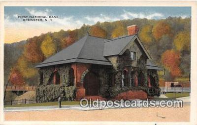 bnk001478 - First National Bank Brewster, NY, USA Postcard Post Card