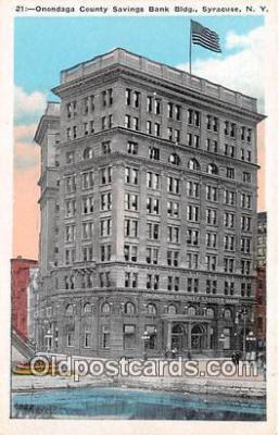bnk001485 - Onondaga County Savings Bank Building Syracuse, NY, USA Postcard Post Card