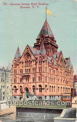 bnk001489 - Syracuse Savings Bank Building Syracuse, NY, USA Postcard Post Card
