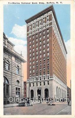 bnk001494 - Marine National Bank Building Buffalo, NY, USA Postcard Post Card