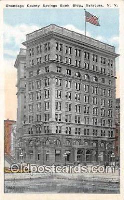 bnk001495 - Onondaga County Savings Bank Building Syracuse, NY, USA Postcard Post Card