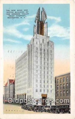 bnk001496 - New Bank & Office Building, Genesee Valley Trust Company Rochester, NY, USA Postcard Post Card