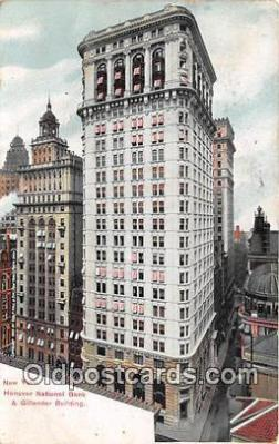 bnk001499 - New York Hanover National Bank & Fillender Building New York, USA Postcard Post Card