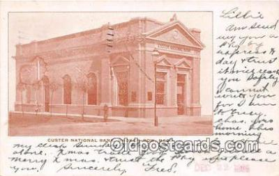 bnk001501 - Custer National Bank Broken Bow, Nebraska, USA Postcard Post Card