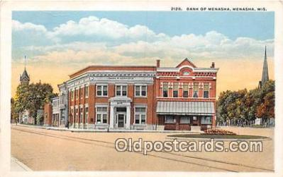 bnk001510 - Bank of Menasha Menasha, Wis, USA Postcard Post Card