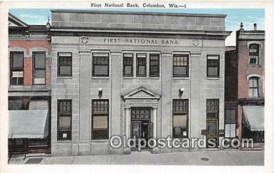 bnk001511 - First National Bank Columbus, Wis, USA Postcard Post Card