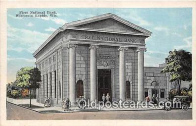 bnk001512 - First National Bank Wisconsin Rapids, Wis, USA Postcard Post Card