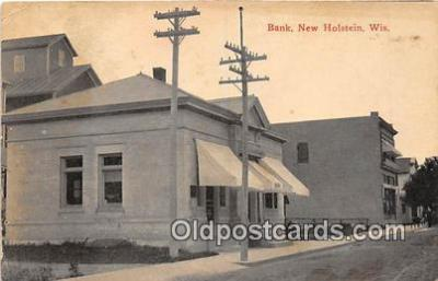 bnk001516 - Bank New Holstein, Wis, USA Postcard Post Card