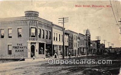 bnk001524 - Main Street Princeton, Wis, USA Postcard Post Card