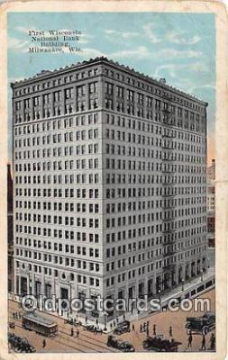 bnk001530 - First Wisconsin National Bank Building Milwaukee, Wis, USA Postcard Post Card