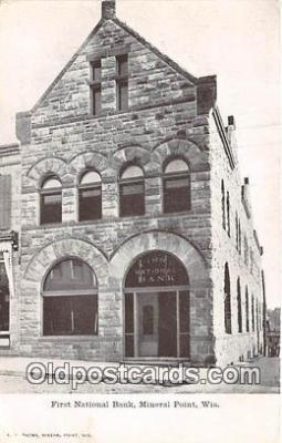 bnk001535 - First National Bank Mineral Point, Wisconsin, USA Postcard Post Card