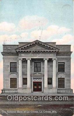 bnk001536 - National Bank of La Crosse La Crosse, Wis, USA Postcard Post Card