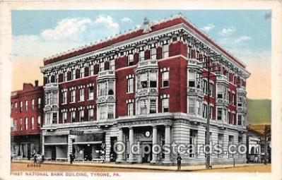 bnk001542 - First National Bank Building Tyrone, PA, USA Postcard Post Card