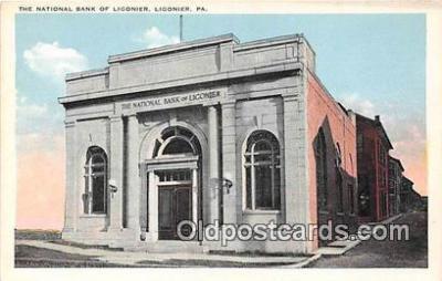 bnk001546 - National Bank of Ligonier Ligonier, PA, USA Postcard Post Card