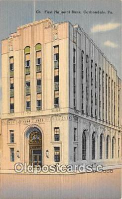 bnk001551 - First National Bank Carbondale, PA, USA Postcard Post Card