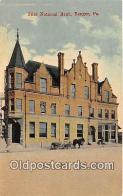 bnk001552 - First National Bank Bangor, PA, USA Postcard Post Card