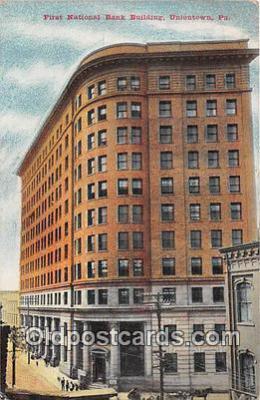 bnk001553 - First National Bank Building Uniontown, PA, USA Postcard Post Card